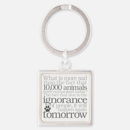Save The Animals Square Keychain