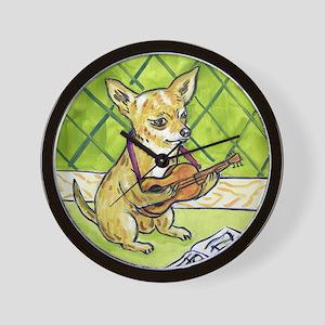 Chihuahua Playing Guitar Wall Clock