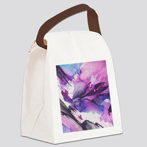 Abstract Mountains Watercolor Canvas Lunch Bag
