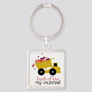 Loads of Love Square Keychain