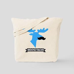 Moose-Tache Mustache Humor Tote Bag