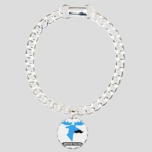 Moose-Tache Mustache Hum Charm Bracelet, One Charm