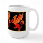 Gryphon Red Gold Large Mug