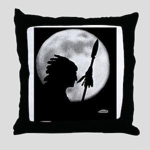 Chief Wapello  Moon Throw Pillow