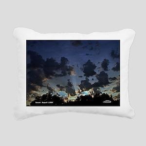 Sunset August 1, 2004  M Rectangular Canvas Pillow