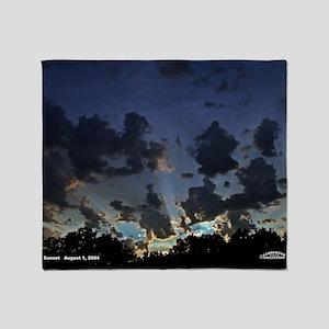 Sunset August 1, 2004  ML- Throw Blanket