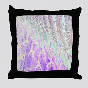 Silvery Lavender Shower Curtain Throw Pillow
