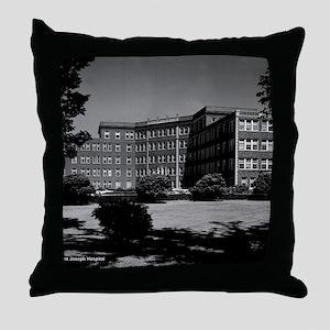 St. Joseph Hospital exterior Throw Pillow