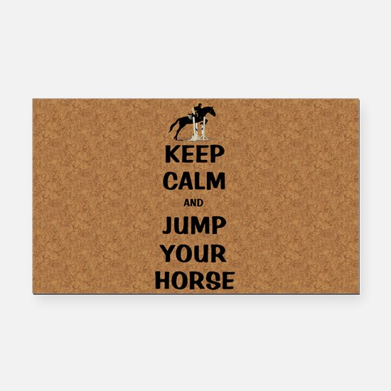 Keep Calm and Jump Your Horse Rectangle Car Magnet