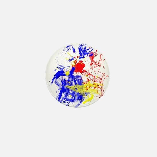 Primary Splatter Mini Button