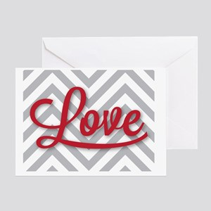 Love in red Greeting Card