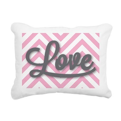 Love in gray Rectangular Canvas Pillow