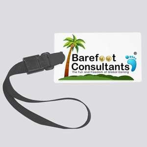 Barefoot Consultants Logo Large Luggage Tag