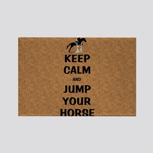 Keep Calm and Jump Your Horse Rectangle Magnet