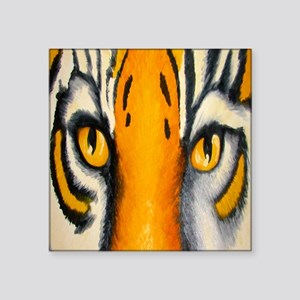 "tiger eyes shower curtain Square Sticker 3"" x 3"""