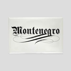 Montenegro Gothic Rectangle Magnet