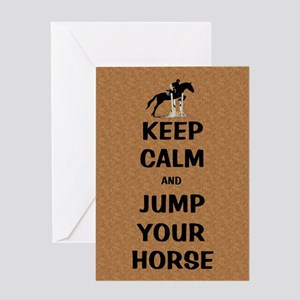Keep Calm and Jump Your Horse Greeting Card