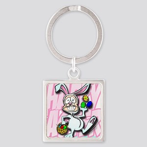 HAPPY EASTER Square Keychain