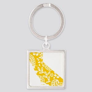 Paisley Square Keychain