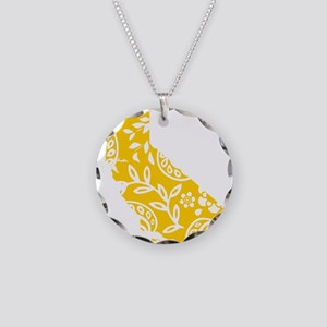 Paisley Necklace Circle Charm