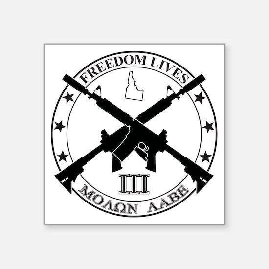 "Freedom Lives ID Square Sticker 3"" x 3"""