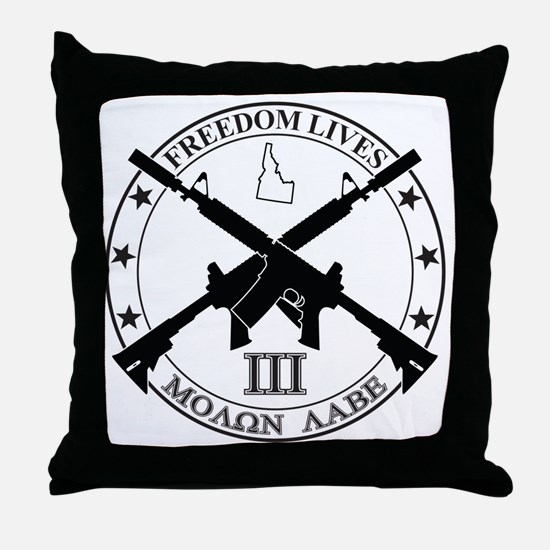 Freedom Lives ID Throw Pillow