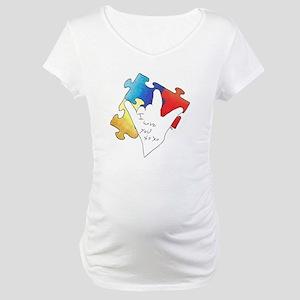 Deaf Autism Logo Maternity T-Shirt