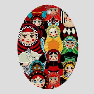 Matryoshka! Oval Ornament