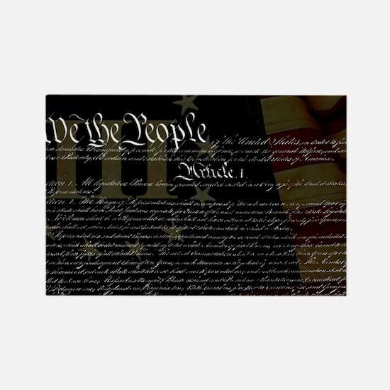 U.S. Outline - Constitution Rectangle Magnet