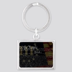 U.S. Outline - Constitution Landscape Keychain