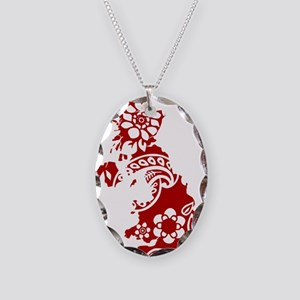 Paisley Necklace Oval Charm