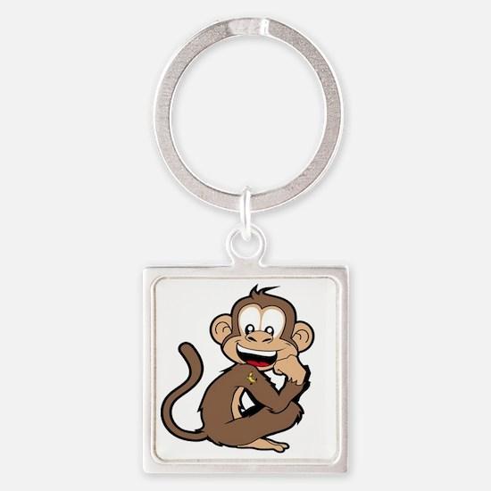cheeky Monkey Square Keychain