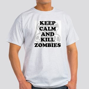 Keep Calm  Kill Zombies Light T-Shirt