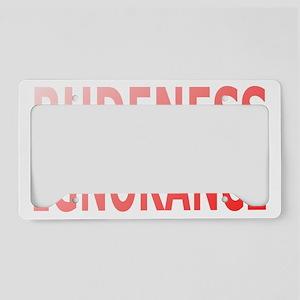 Rudeness License Plate Holder