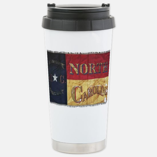 NC Flag Faded Stainless Steel Travel Mug