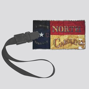 NC Flag Faded Large Luggage Tag