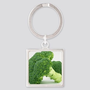 F & V - Broccoli  Design Square Keychain