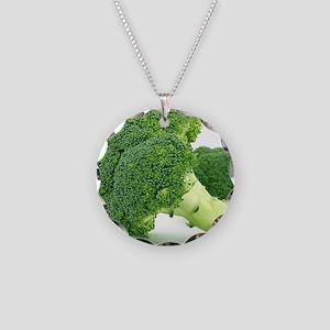 F & V - Broccoli  Design Necklace Circle Charm