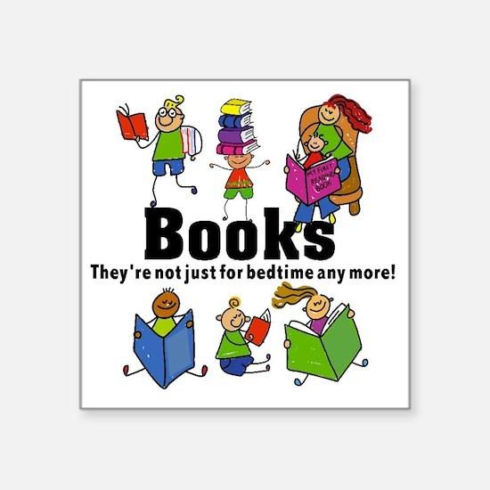 """Books Bedtime Square Sticker 3"""" x 3"""""""