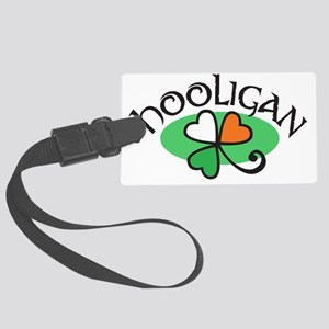 hooligan traditional shamrock Large Luggage Tag
