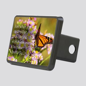 Butterfly Proverb Rectangular Hitch Cover