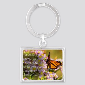 Butterfly Proverb Landscape Keychain