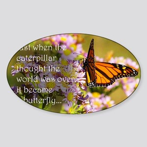 Butterfly Proverb Sticker (Oval)