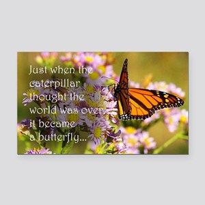 Butterfly Proverb Rectangle Car Magnet