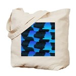 Blue Sea Snake Pattern S Tote Bag