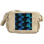Blue Sea Snake Pattern S Messenger Bag