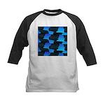 Blue Sea Snake Pattern S Baseball Jersey