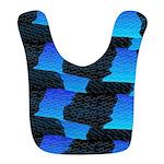 Blue Sea Snake Pattern S Bib
