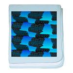 Blue Sea Snake Pattern S baby blanket