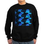 Blue Sea Snake Pattern S Sweatshirt